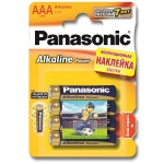 Батарейка Panasonic Alkaline Power LR03APB/4BPS LR03 + наклейка BL4