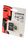 Карта памяти KINGSTON microSD 64GB High-Capacity (Class 10) UHS-I с адаптером BL1