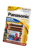 Батарейка Panasonic Alkaline Power LR6APB/4BPS RU Spider-Man LR6 + наклейка BL4