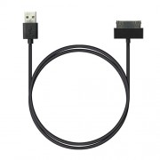 Кабель ROBITON P4 iphone4/1m/Charge&Sync USB A - Apple iPhone 4, 1м черный PK1