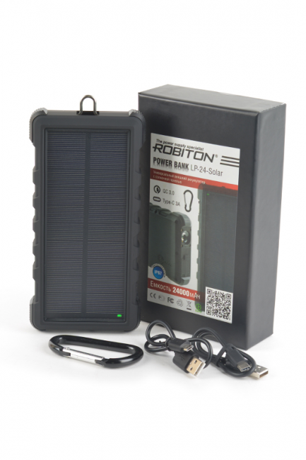 Внешний аккумулятор ROBITON POWER BANK LP-24-Solar Type-C 24000mAh