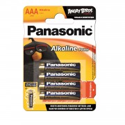 Батарейка Panasonic Alkaline Power LR03APB/4BP RU LR03 ANGRY BIRDS BL4