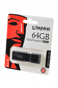 USB Flash KINGSTON USB 3.1/3.0/2.0  64GB  DataTraveler 100 G3 черный BL1