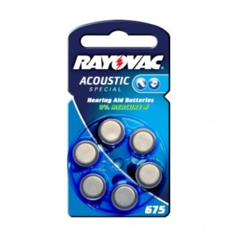 Батарейка RAYOVAC ACOUSTIC  SPECIAL 675 BL6