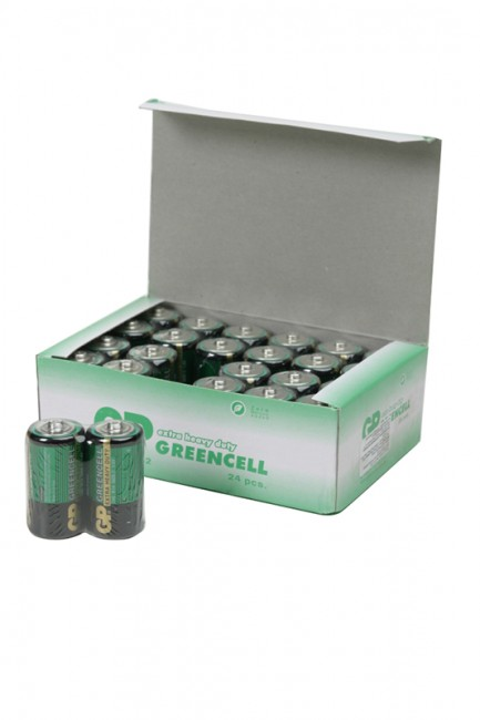 Батарейка GP Greencell 14G/R14 SR2, в упак 24 шт