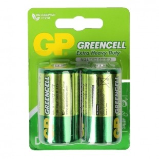Батарейка GP Greencell GP14G-2CR2 R14 BL2