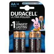 Батарейка DURACELL ULTRA POWER LR6 BL4, упаковка 4 шт.