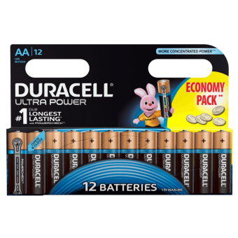 Батарейка DURACELL ULTRA POWER LR6 BL12, упаковка 12 шт.