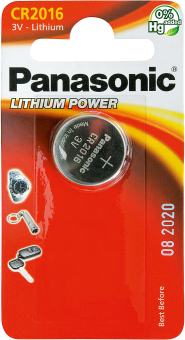 Panasonic Lithium Power CR-2016EL/1B CR2016 BL1