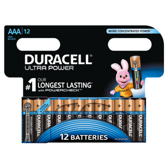 Батарейка DURACELL ULTRA POWER LR03 BL12, упаковка 12 шт.